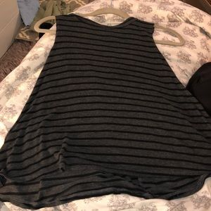 Black and gray tank top